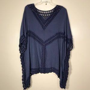 Lane Bryant kimono sleeve top, size 26/28